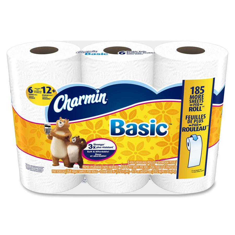 Charmin 85982ct charmin basic big roll toilet paper bathroom tissue