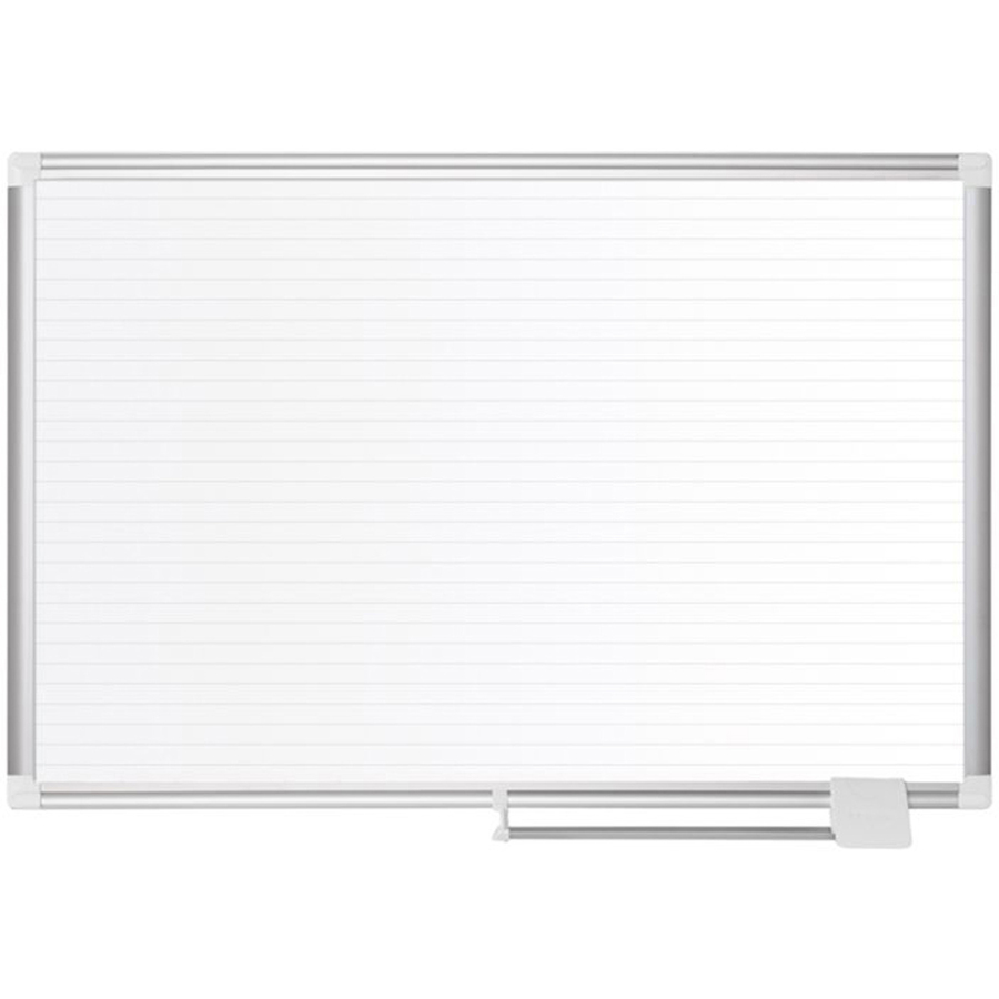 Bi-silque S.a Mastervision Magnetic Gold Ultra Dry Erase Board - White, Gold - Aluminum, Steel - Magnetic, Dry Erase Surface, Marker Tray