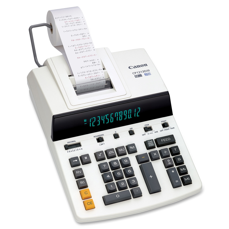 Victor Two-Color Printing Calculator VCT12304 12-Digit Fluorescent