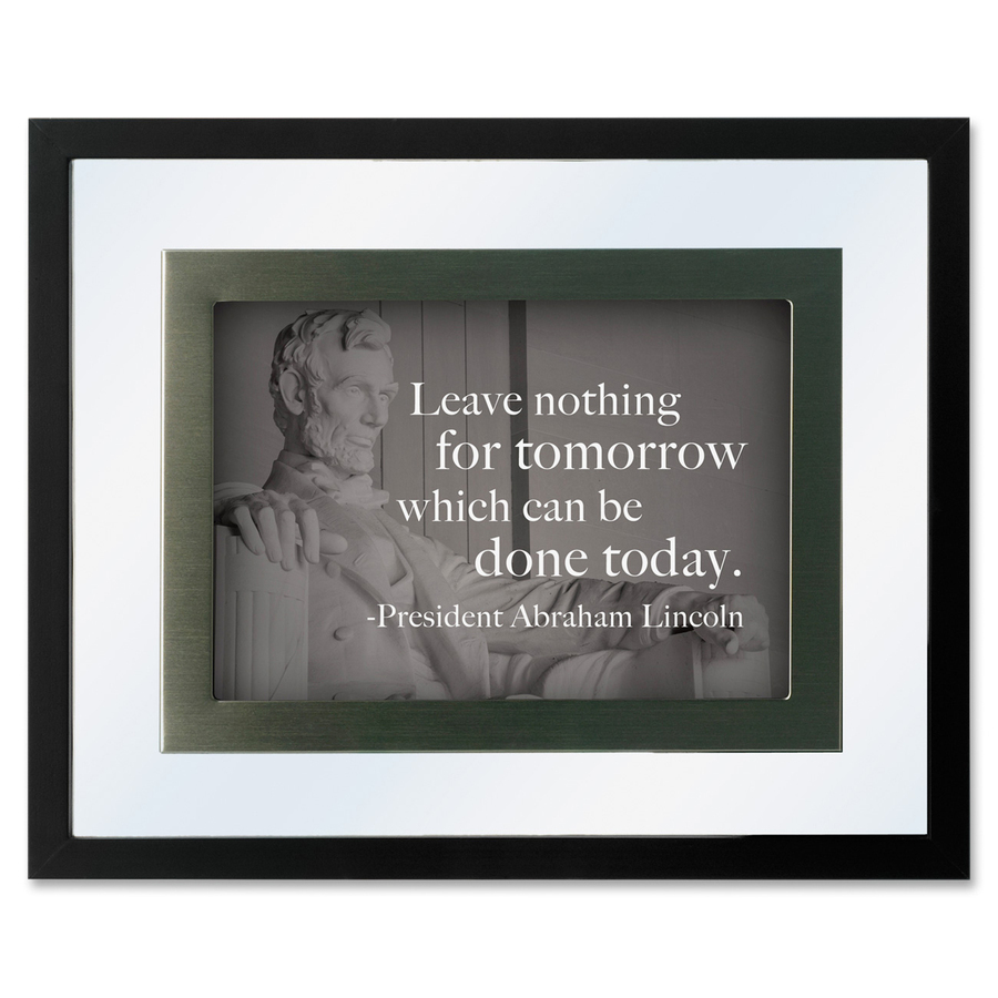 Dax Presidential Quotes Motvtnl Print Frame Desktop, Wall Mountable