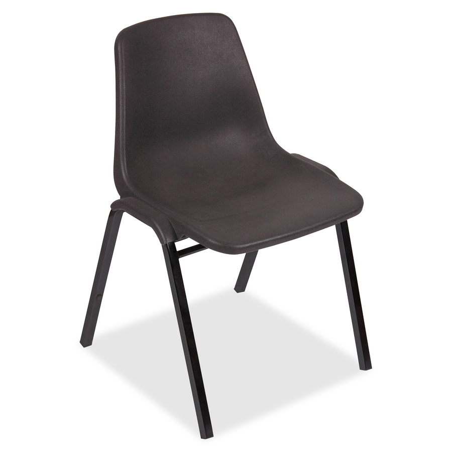 lorell plastic stacking chairs polypropylene black seat