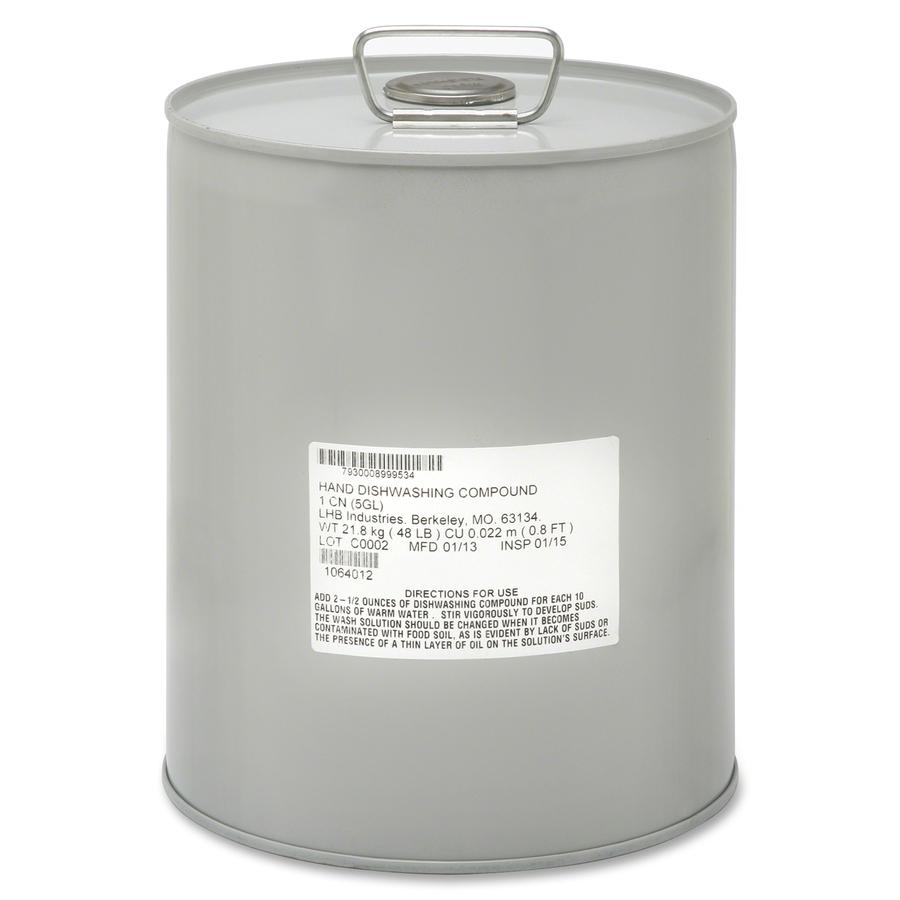 SKILCRAFT Hand Dishwashing Liquid Soap Liquid Solution 5 gal (640 fl  #50534A