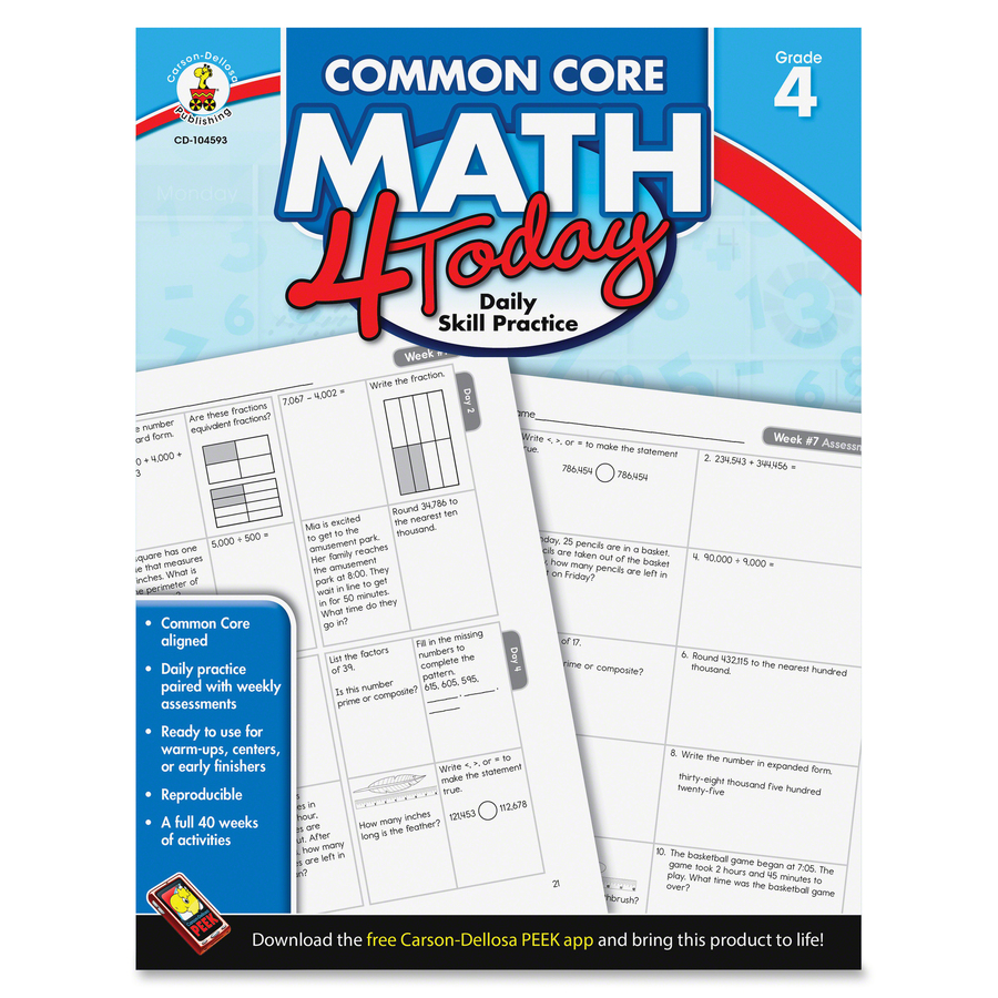 Math 4 Today Grade 3 (Common Core) (032411) Details - Rainbow ...