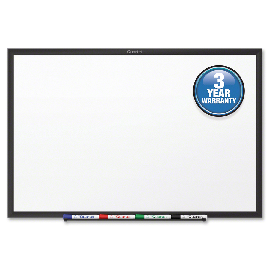 Acco Brands Corporation Quartet® Classic Whiteboard - 48 (4 Ft) Width X 36 (3 Ft) Height - White Melamine Surface - Black Aluminum Frame - Horizontal/vertical - 1 / Each