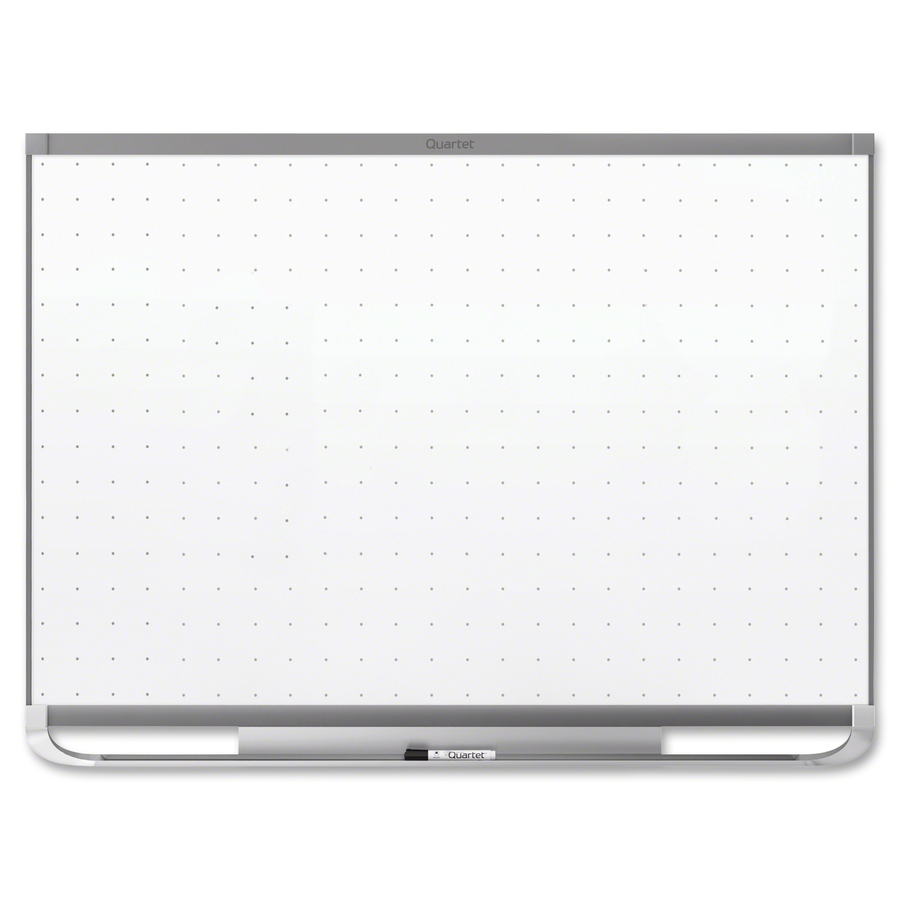 Acco Brands Corporation Quartet® Prestige® 2 Total Erase®magnetic Whiteboard, 8 X 4, Graphite Finish Frame - 96 (8 Ft) Width X 48 (4 Ft) Height - White Magnetic Surface - Graphite Frame - Horizontal - 1 Each