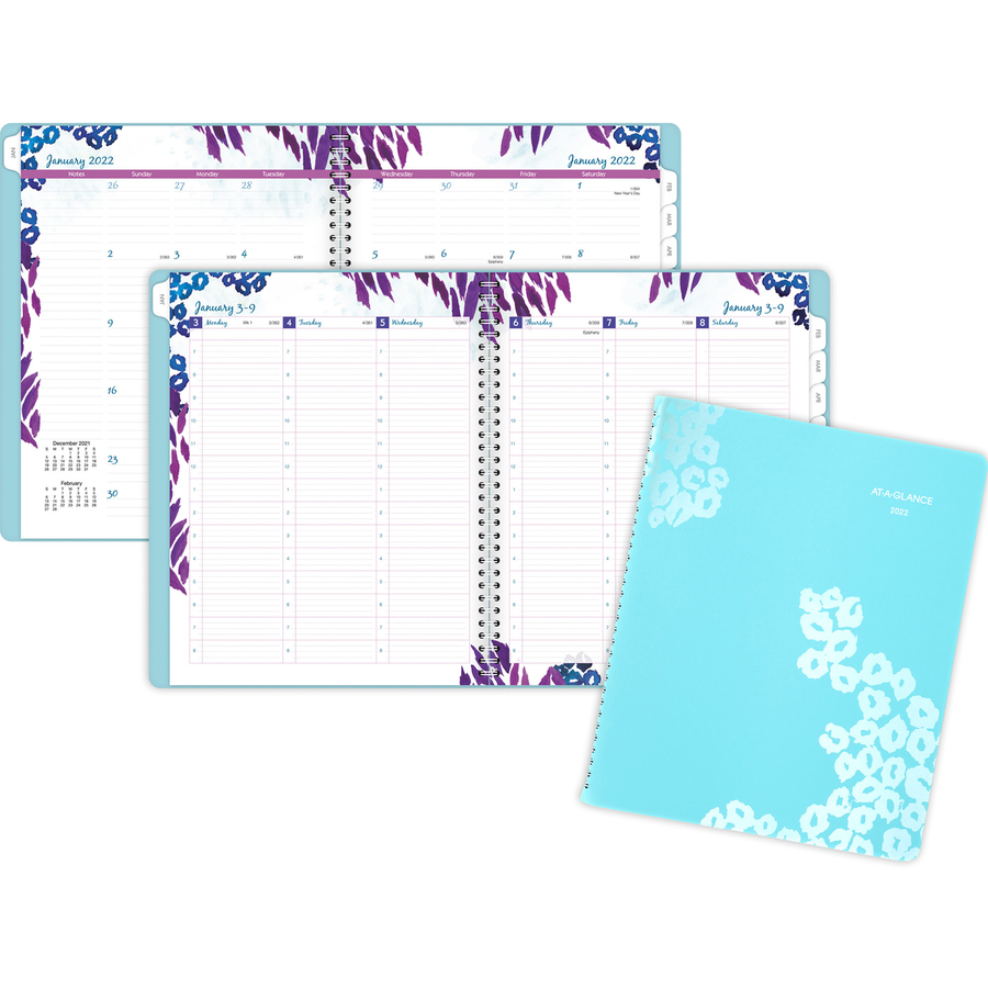 at a glance wild washes weeklymonthly planner aag523905 original