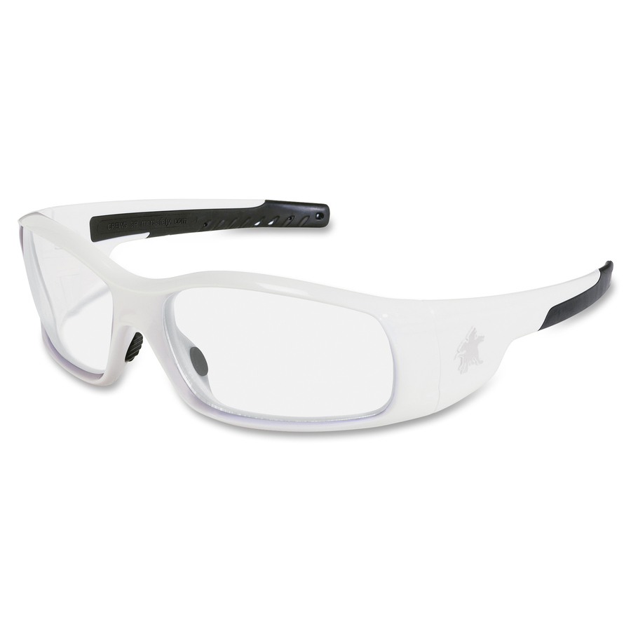 Crews Swagger White Frame Safety Glasses - Mac Papers Inc