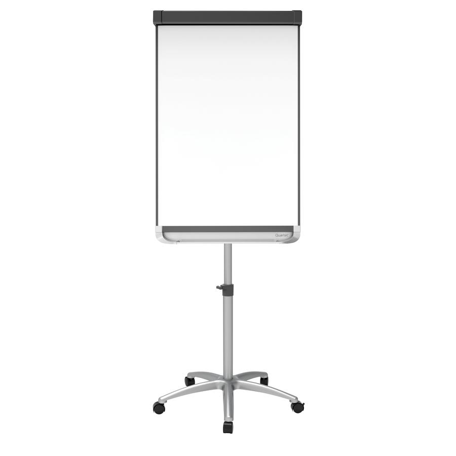Acco Brands Corporation Quartet® Prestige® 2 Mobile Presentation Easel, Magnetic Whiteboared/flipchart, 2 X 3, Graphite Finish Frame - 24 (2 Ft) Width X 36 (3 Ft) Height - White Painted Steel Surface - Graphite Aluminum Frame - Vertical - 1 / Each