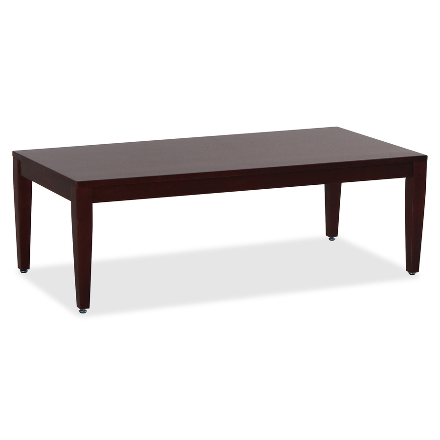lorell mahogany finish solid wood coffee table llr59544 lineart original