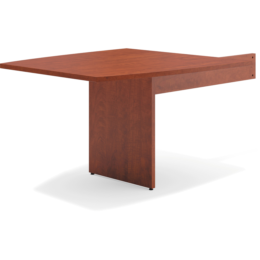Basyx By HON Modular Conference Table Slab Base Boat End Urban - Hon boat shaped conference table