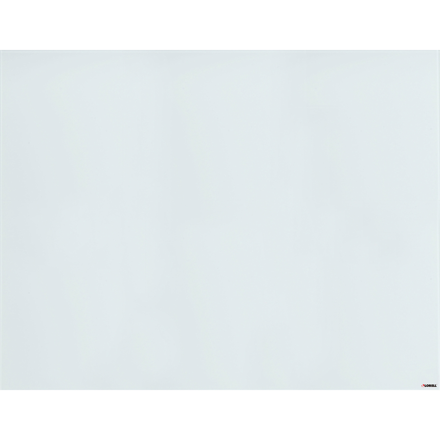 Lorell Magnetic Glass Board - 46 (3.8 Ft) Width X 36 (3 Ft) Height - White Glass Surface - Rectangle - 1 Each
