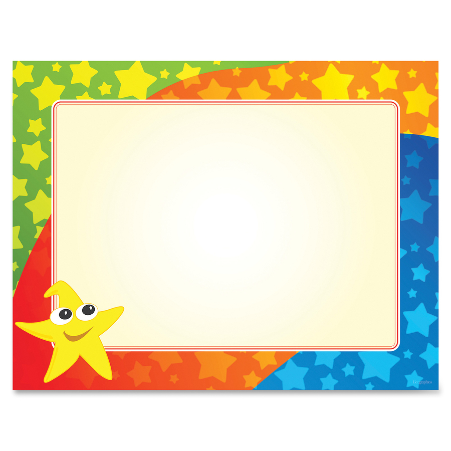 Geographics Color Stars Border Certificates Servmart