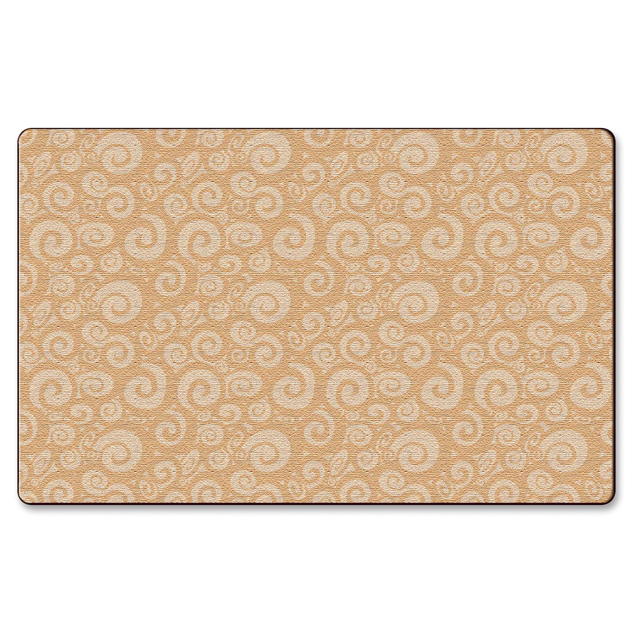 Flagship Carpets Solid Color Swirl Rug FCIFE39458A