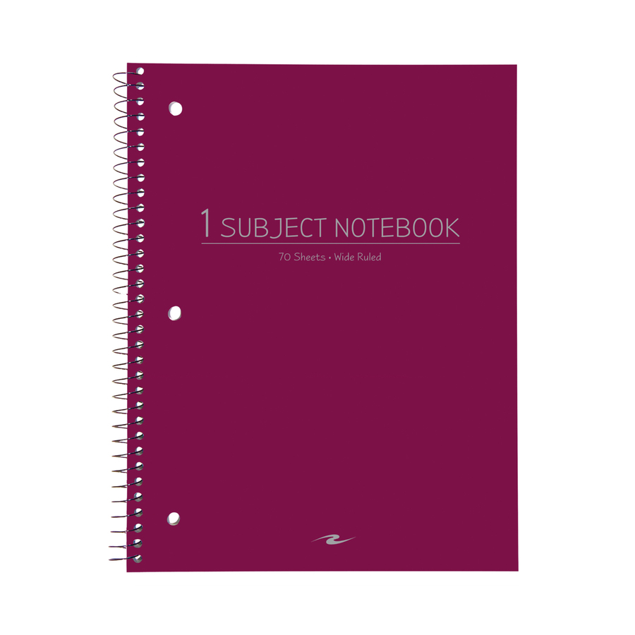 Rediform office products subject wirebound notebook wide - Roaring Spring Wide Ruled Wirebound Notebook Roa10031 Alternate Image3 Original
