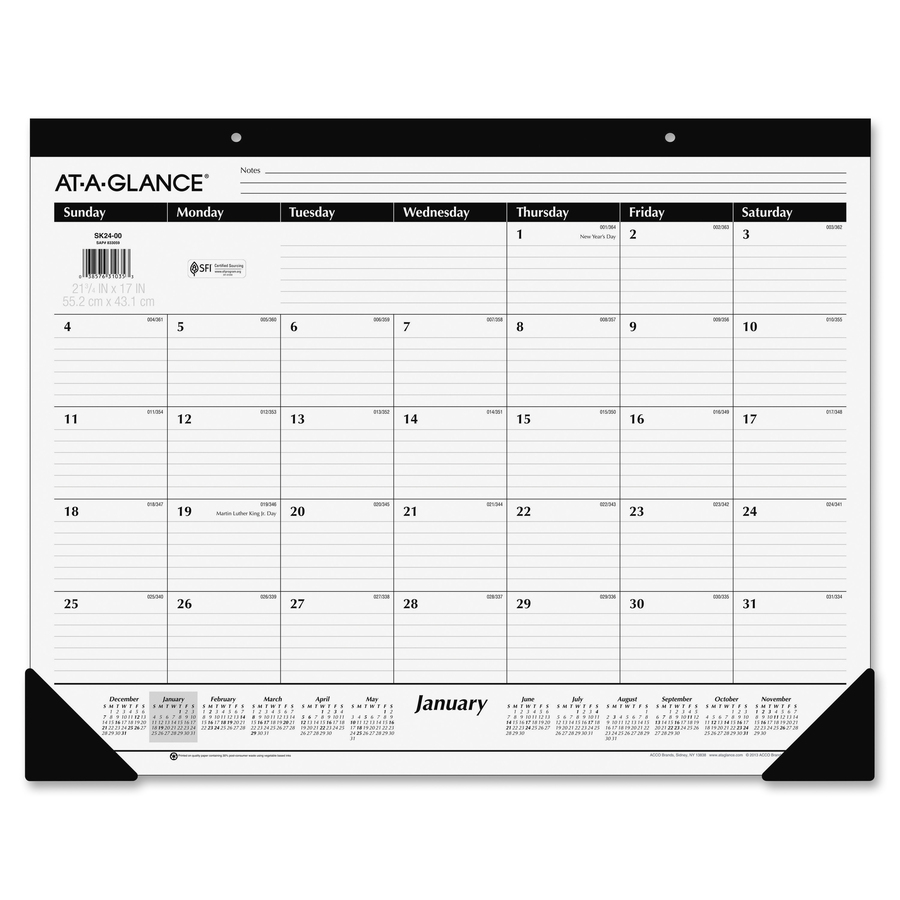 at a glance monthly desk pad m l h computer services inc
