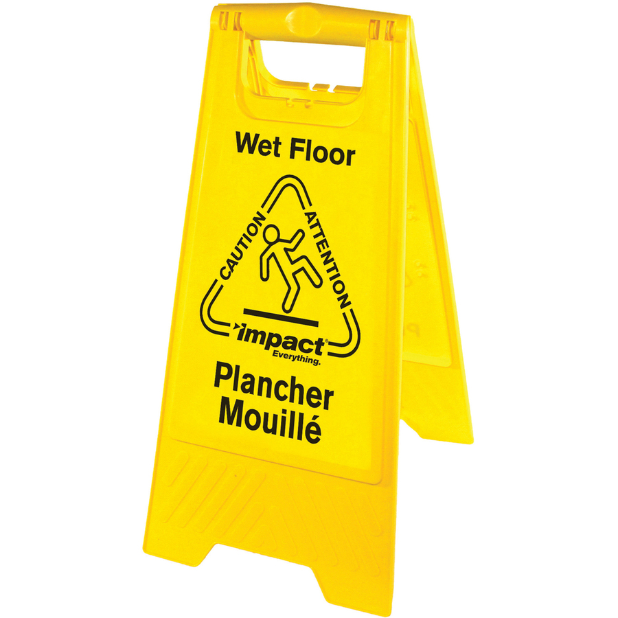 Impact products english spanish wet floor sign for Floor in spanish