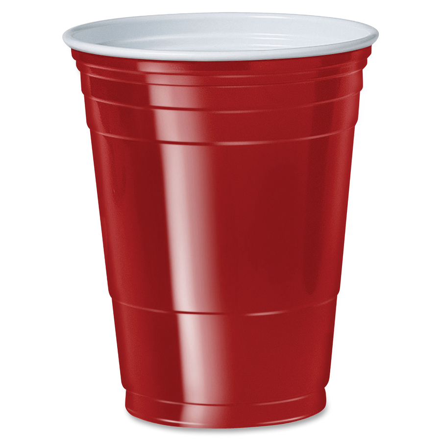 solo cup 16 oz. plastic cold party cups - servmart