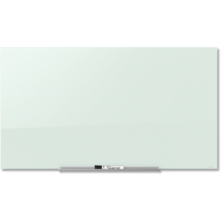 Acco Brands Corporation Quartet® Invisamount Magnetic Glass Dry-erase Board - 74 (6.2 Ft) Width X 42 (3.5 Ft) Height - White Tempered Glass Surface - Horizontal - Assembly Required - 1 Each