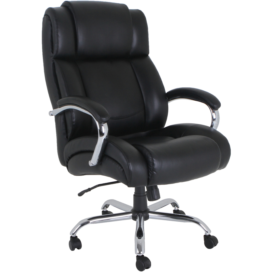LLR Lorell Big and Tall Leather Chair with UltraCoil