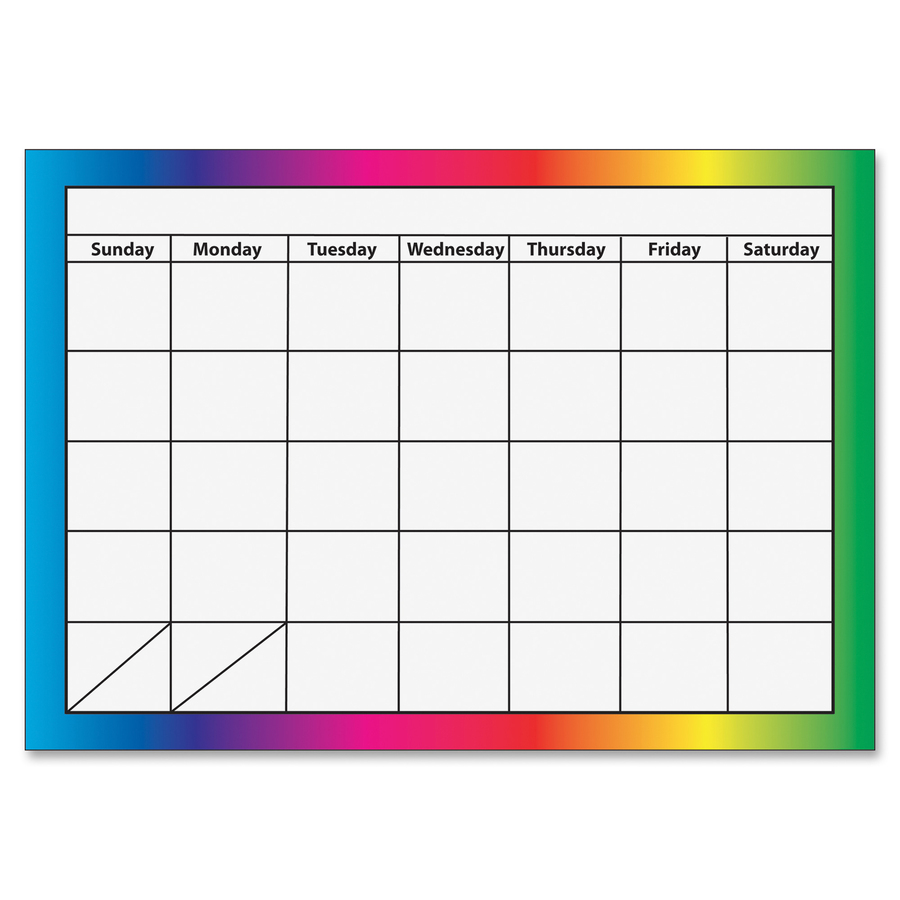 Dry Erase Weekly Calendar : Ashley month dry erase magnetic calendar blue cow