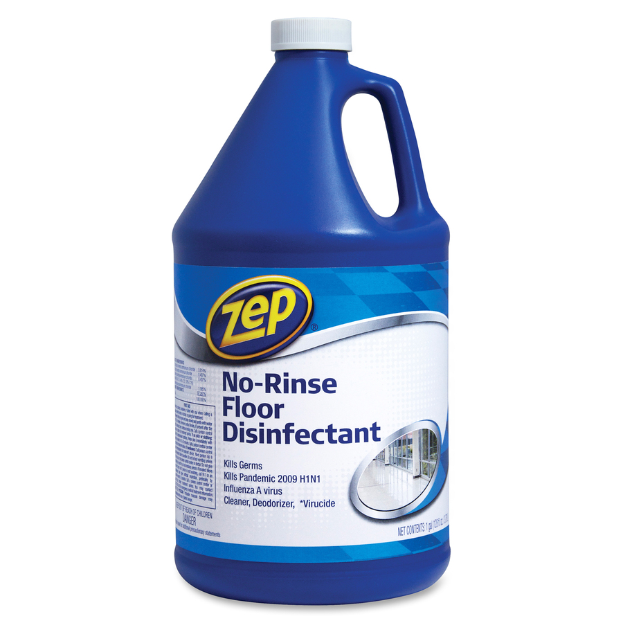 Zep Commercial No Rinse Floor Disinfectant Concentrate Liquid Solution  #126FB9