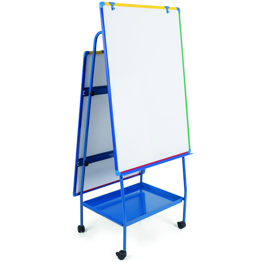 Bi-silque S.a Bi-office Magnetic Adjustabledoublee-sided Easel - White Surface - Rectangle - Assembly Required - 1 Each