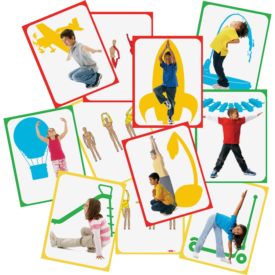 Roylco, Inc Roylco Body Poetry Student Yoga Cards - Theme/subject: Learning - Skill Learning: Illustration - 16 Pieces - 4+