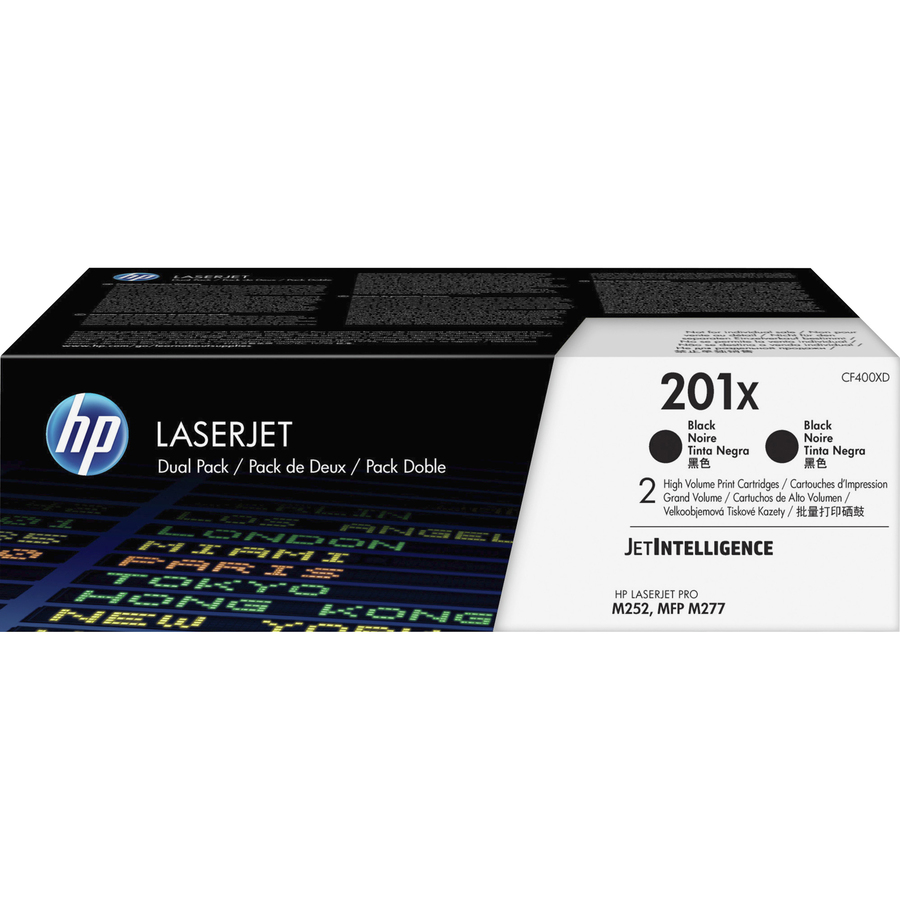 HP 201X Toner Cartridge - Black - Laser - High Yield - 2800 Pages