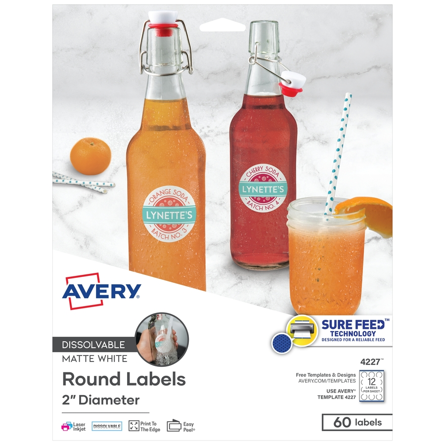 avery round dissolvable labels office pros