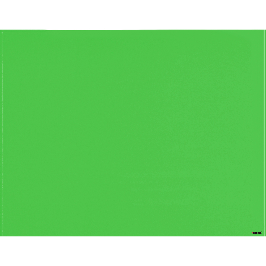 Lorell Magnetic Glass Color Dry Erase Board - 48 (4 Ft) Width X 36 (3 Ft) Height - Green Glass Surface - Rectangle - Mount - 1 Each