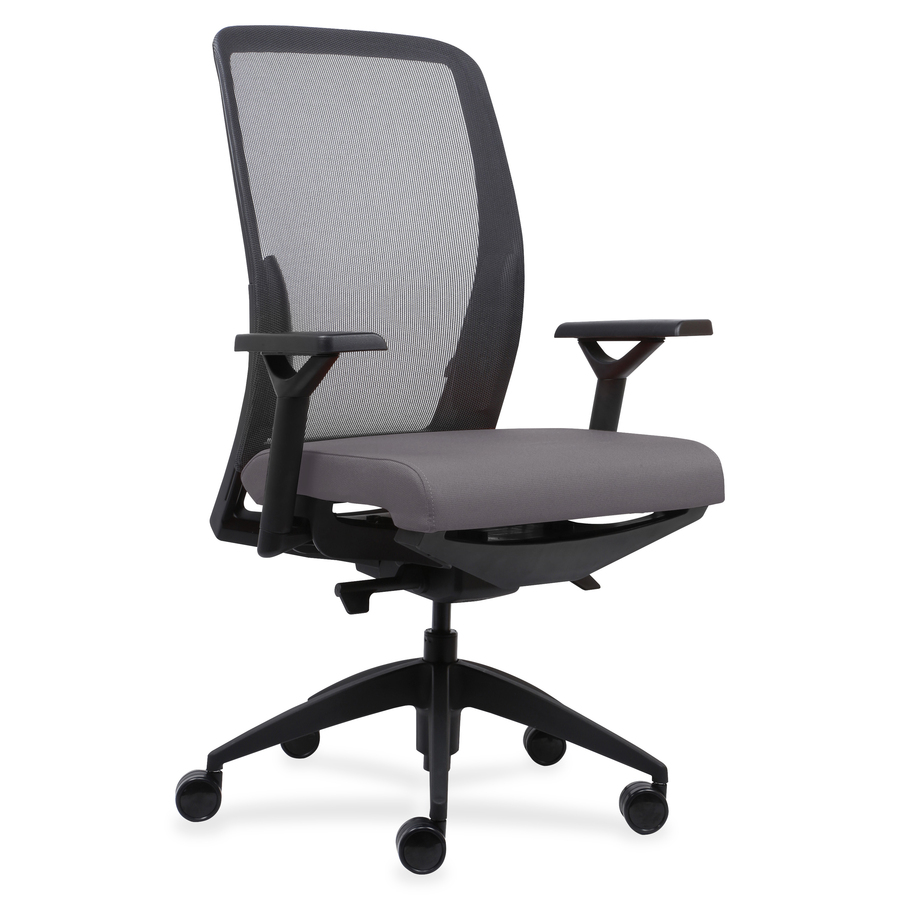 lorell executive mesh back fabric seat task chair servmart