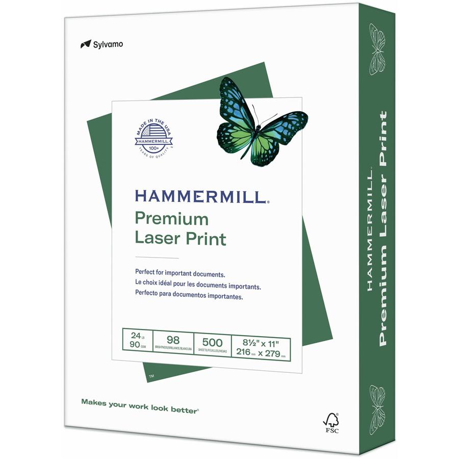 New** Hammermill  Copier Paper 100 Bright 28lb 8 1//2 x 11 Photo White  500//Ream