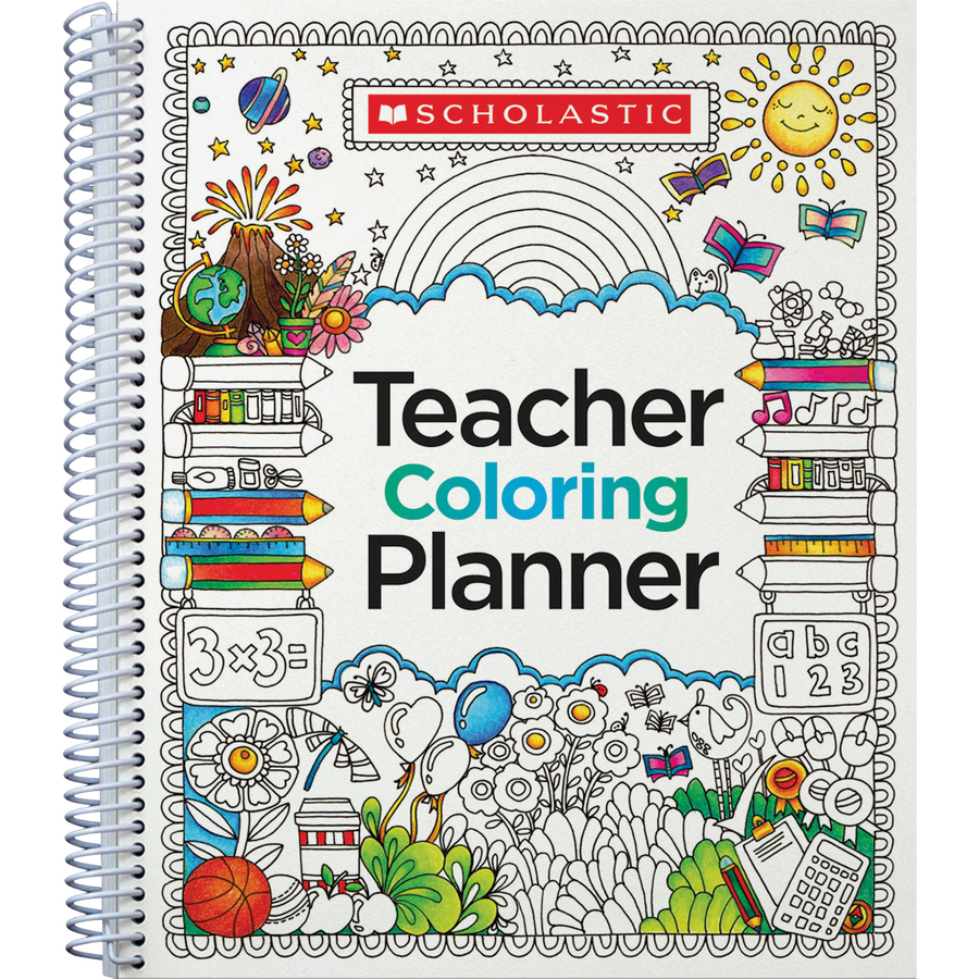 Scholastic Doodle Weekly/monthly Teaching Planner - Monthly, Weekly - Multi