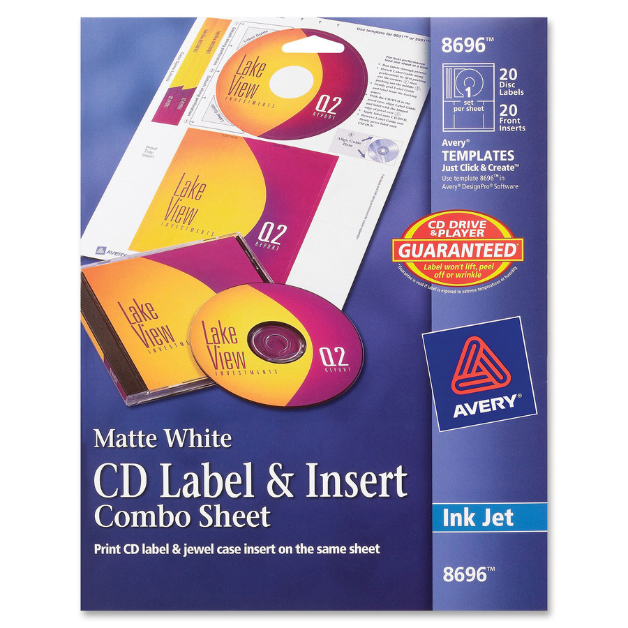 Avery Cddvd Label Insert Combo Sheets Mac Papers Inc