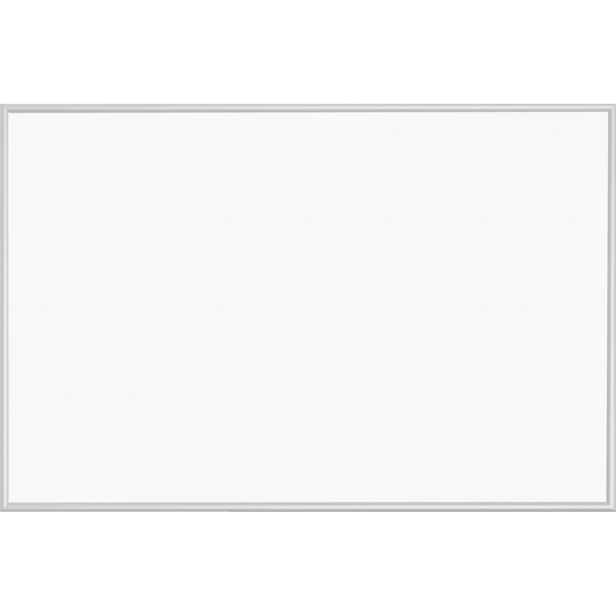 Lorell Aluminum Frame Dry-erase Board - 72 (6 Ft) Width X 48 (4 Ft) Height - White Styrene Surface - Silver Aluminum Frame - Rectangle - Wall Mount - 1 Each