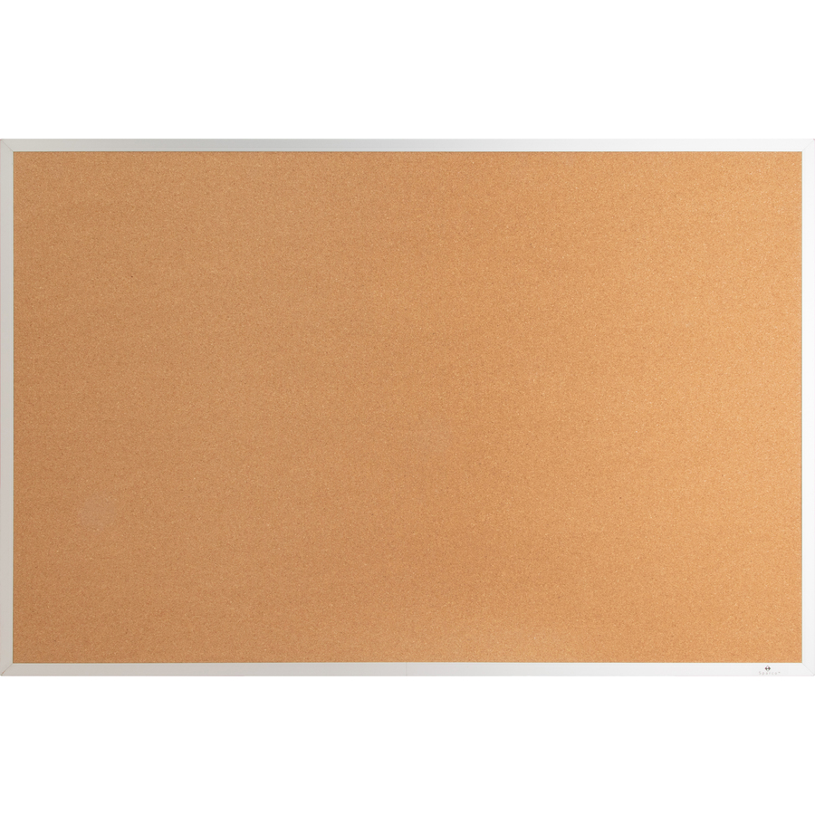 Lorell Aluminum Frame Cork Board - 24 Height X 36 Width - Cork Surface - Long Lasting, Warp Resistant - Brown Aluminum Frame - 1 Each