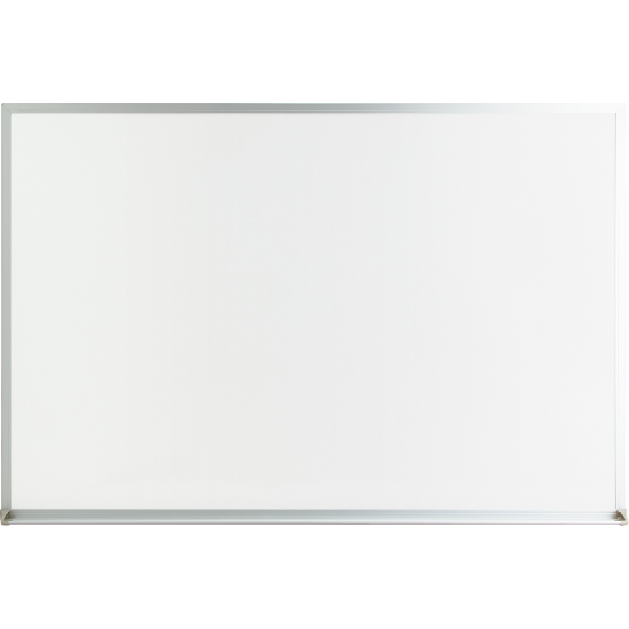 Lorell Aluminum Frame Dry-erase Board - 48 (4 Ft) Width X 36 (3 Ft) Height - White Melamine Surface - White Aluminum Frame - Rectangle - Wall Mount - 1 Each