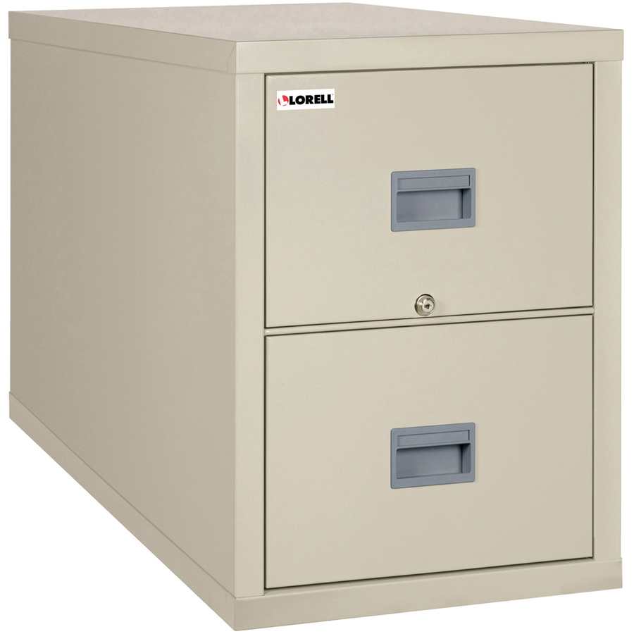 Lorell White Vertical Fireproof File Cabinet 17 8 X 25 7 X 27 8 2 X Drawer S For File Letter Legal Vertical Fire Proof Key Lock Water