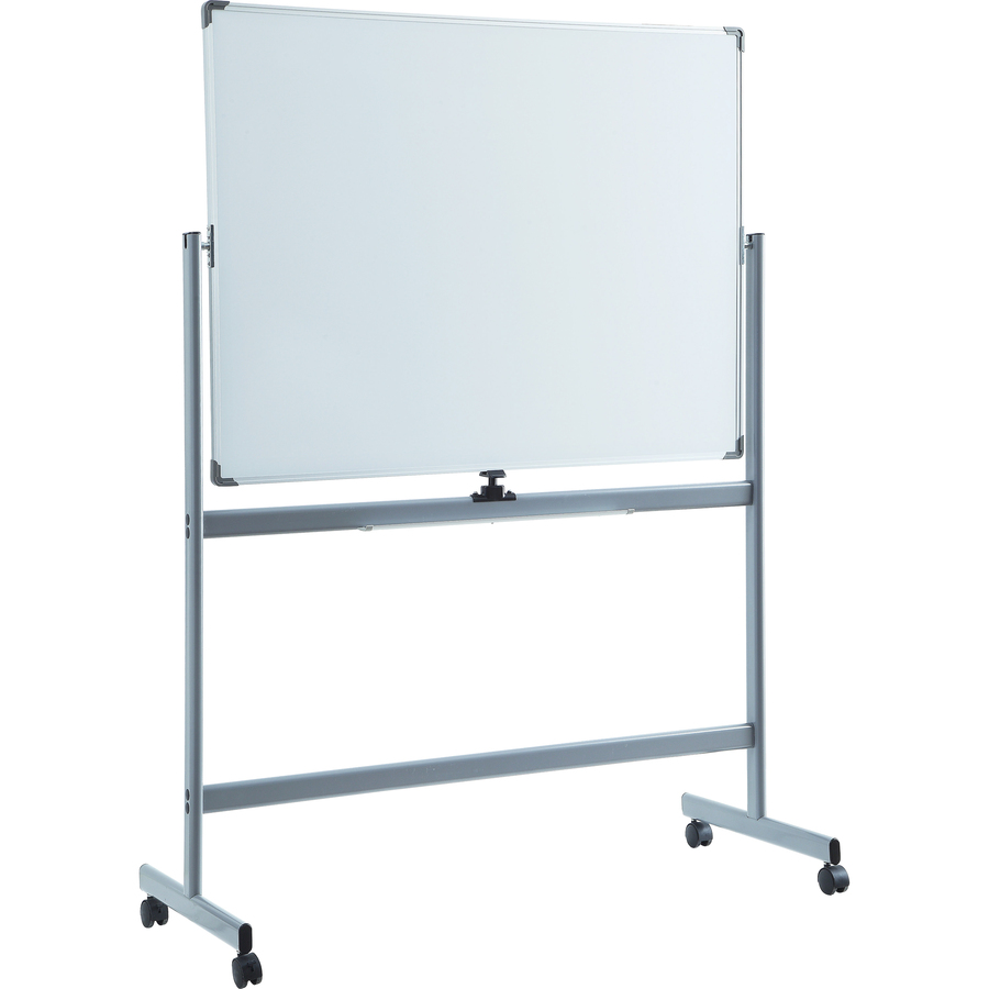 Lorell Magnetic Whiteboard Easel - 72 (6 Ft) Width X 48 (4 Ft) Height - White Surface - Rectangle - Floor Standing - 1 Each