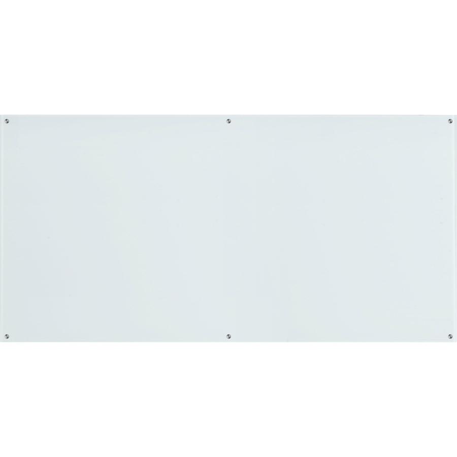 Lorell Premium Glass Board - 96 (8 Ft) Width X 48 (4 Ft) Height - White Glass Surface - Rectangle - 1 Each