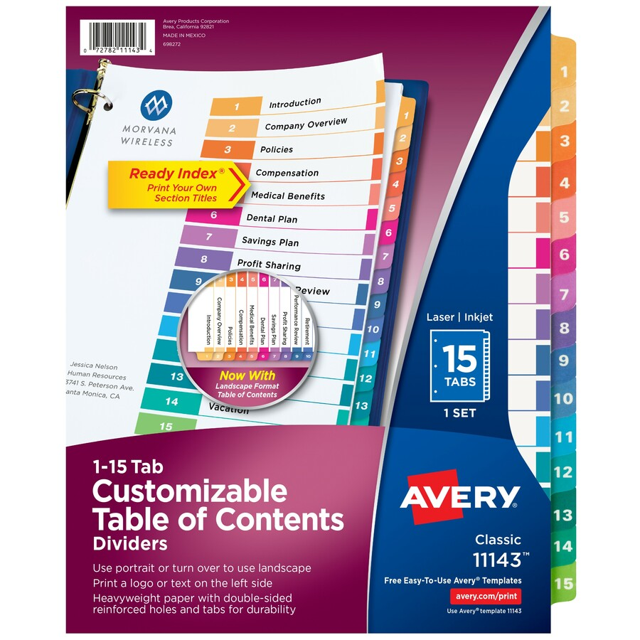 avery ready index template 31 tab.html