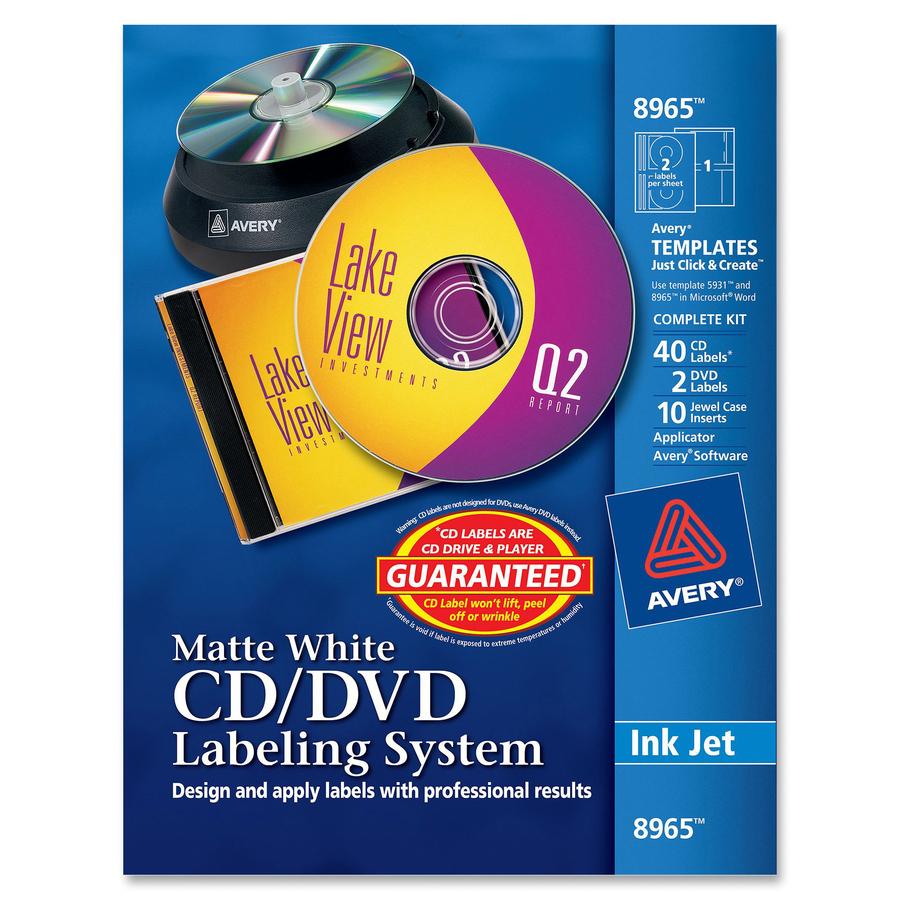 Avery cddvd design labeling kits with applicator walkers office original saigontimesfo