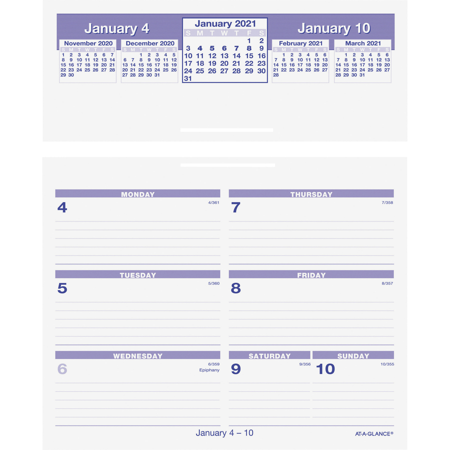 At A Glance Flip A Week Weekly Refill And Storage Base