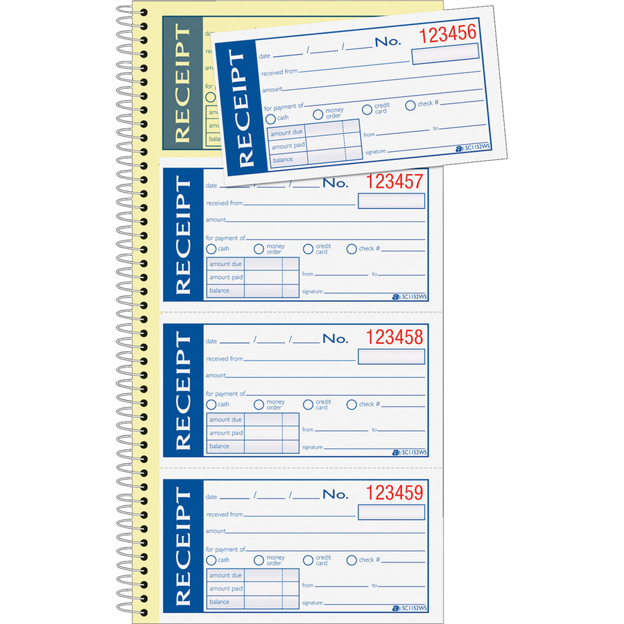 adams write n stick receipt book hobby office corp