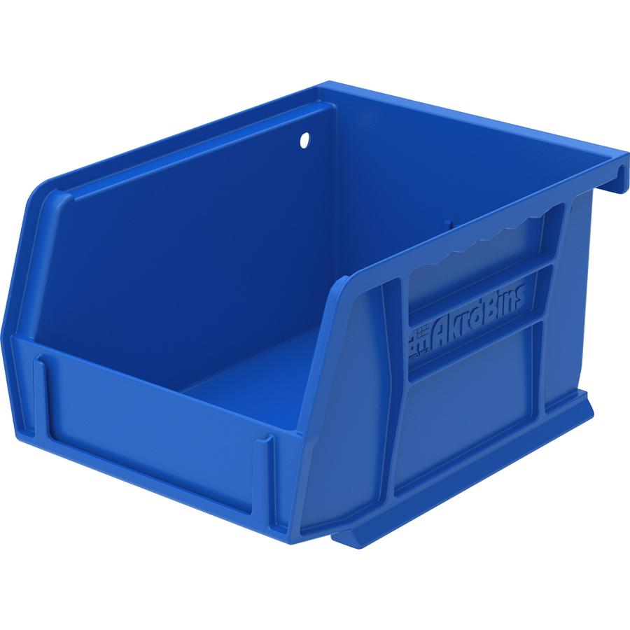 Image for Akro-mils / Myers Industries, Inc Akro-mils Akrobin - 3 Height X 4.1 Width X 5.4 Depth - Rack-mountable - Blue - Polymer - 1 / Each