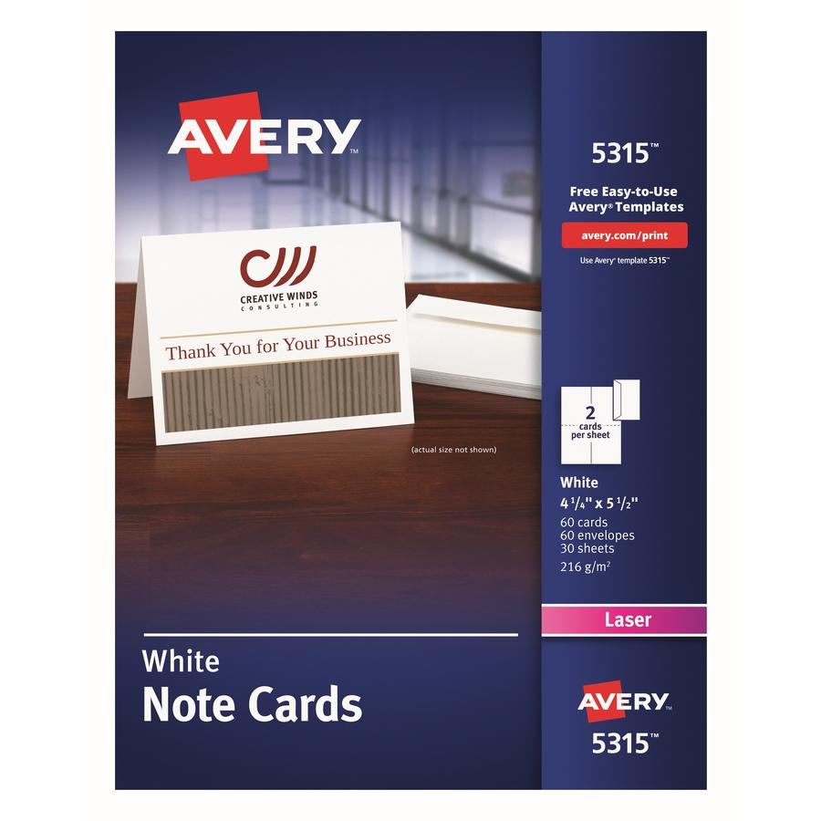 avery laser print greeting card servmart
