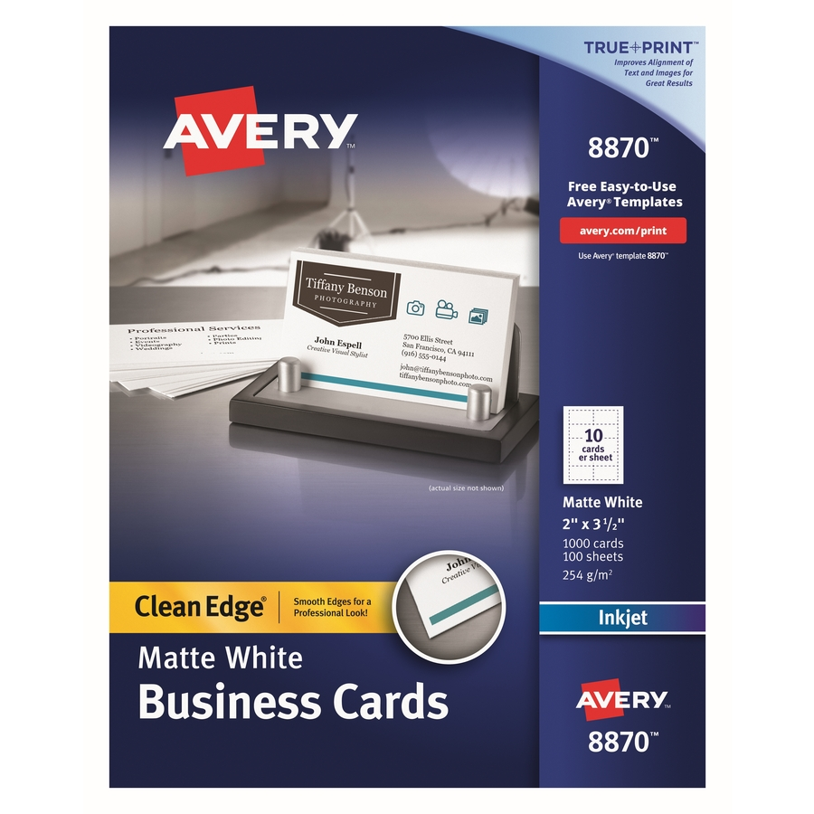 avery inkjet print business card icc business products office