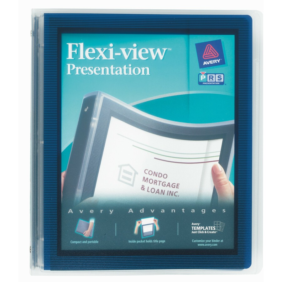 avery flexi view binders with round rings servmart
