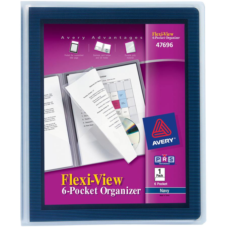 Avery flexi view 6 pocket organizer mac papers inc original colourmoves