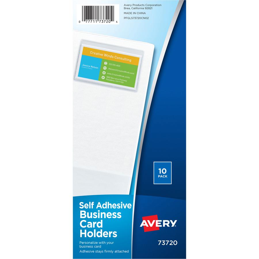 Avery self adhesive business card holders urban office products avery self adhesive business card holders ave73720 original colourmoves